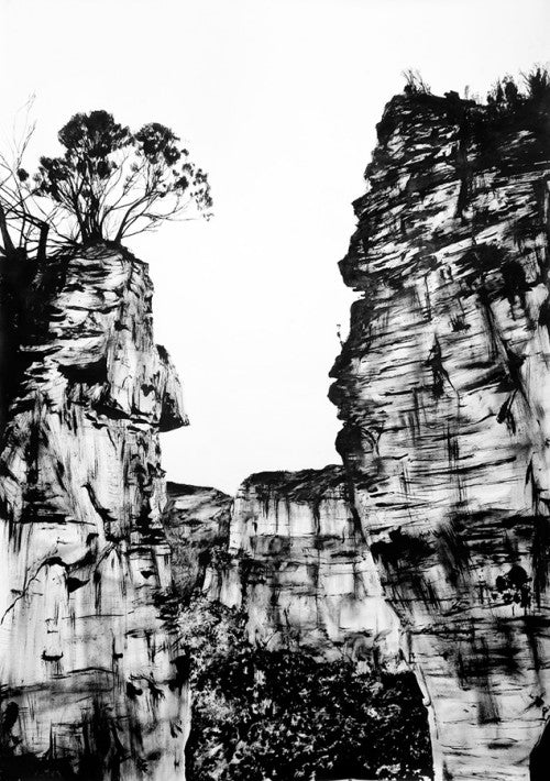 hanging rock, blue mountains, new south wales, australia, art