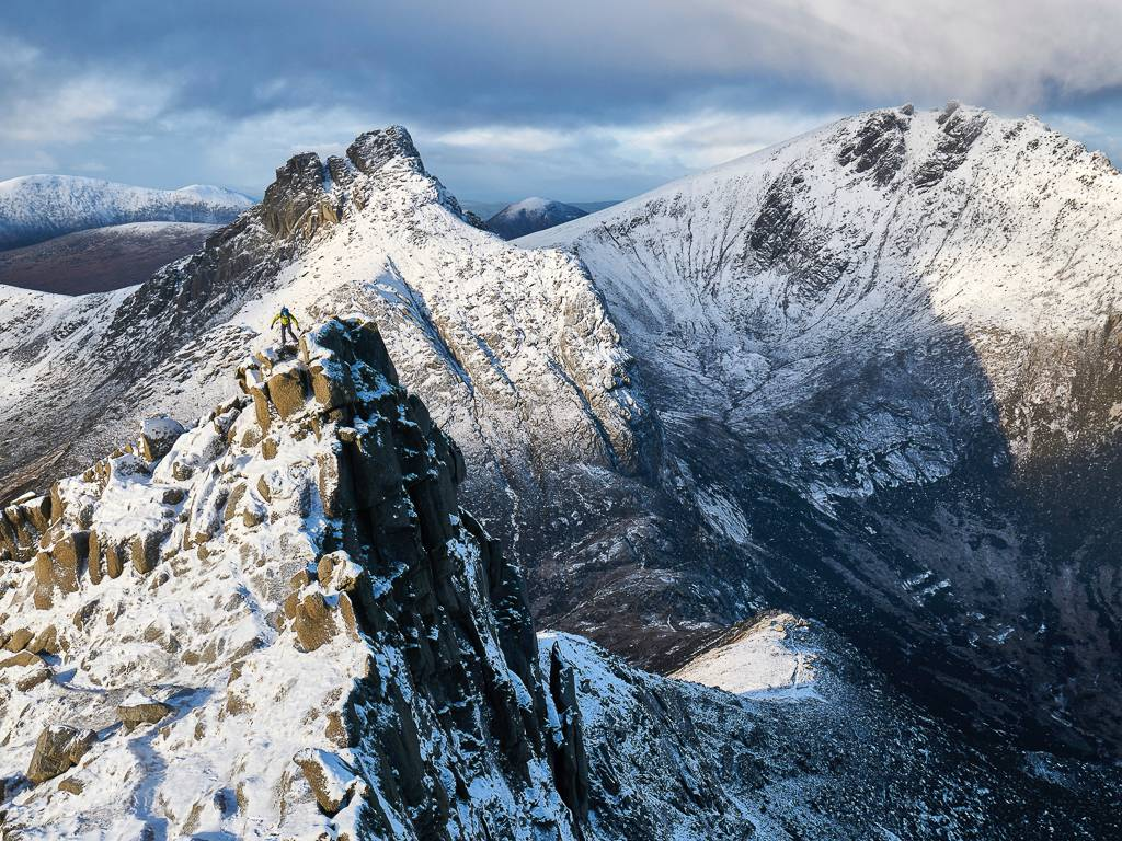 sannox horseshoe, goatfell, isle of arran, scotland, mountaineering