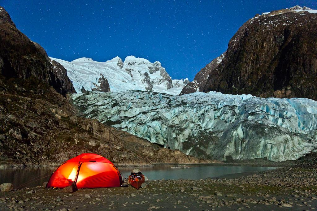 bernal glacier, camping, sea kayak, adventure, patagonia, photography