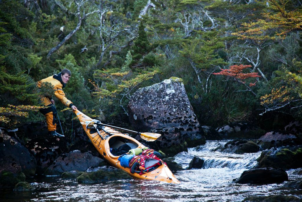 difficult portage, sea kayak, adventure, patagonia