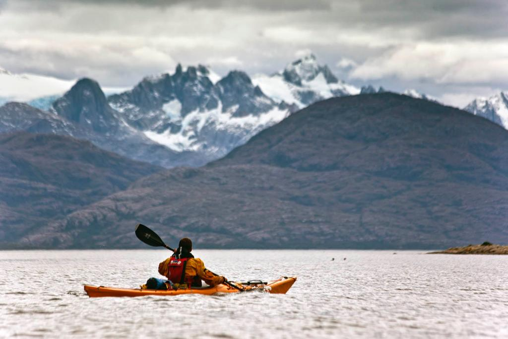 ice cap, sea kayak, adventure, patagonia, photography
