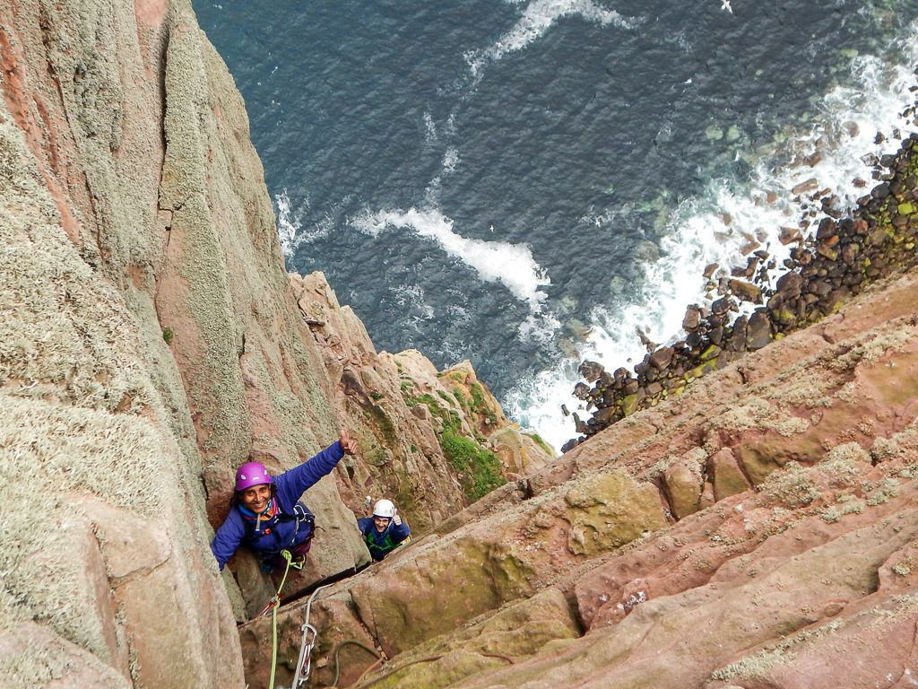 sea stacks, climbing, scotland