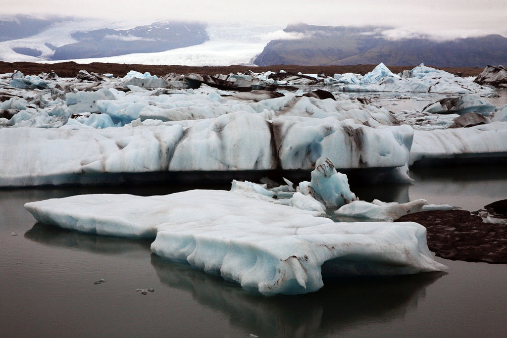 melting ice flows, Jökulsárlón, South-east Iceland