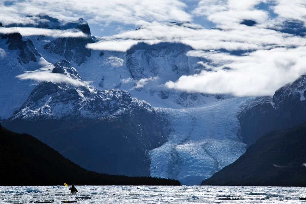 peel fjord, immense, sea kayak, adventure, patagonia, photography