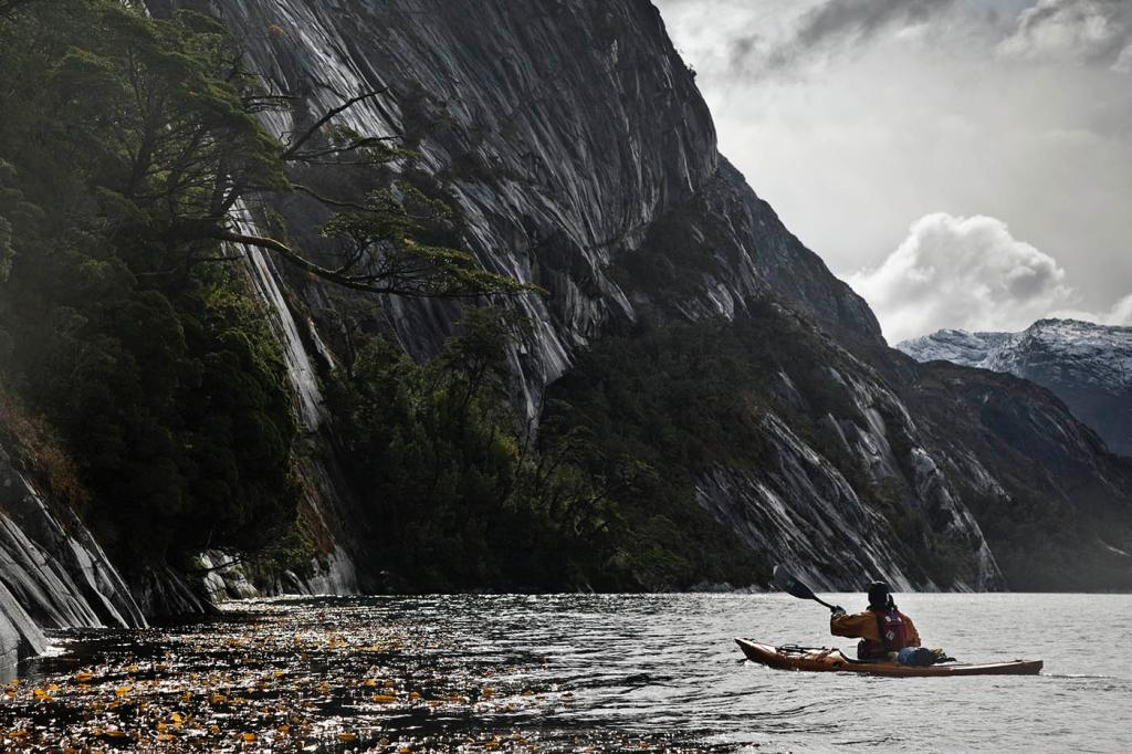 granite walls, sea kayak, adventure, patagonia, photography