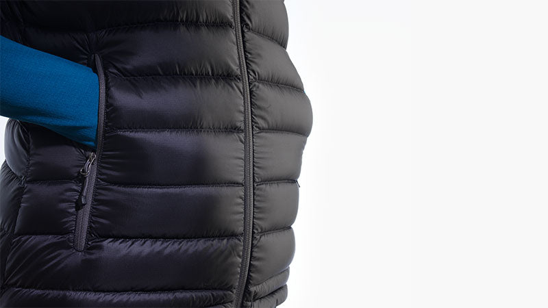 Down Gilet With Pockets