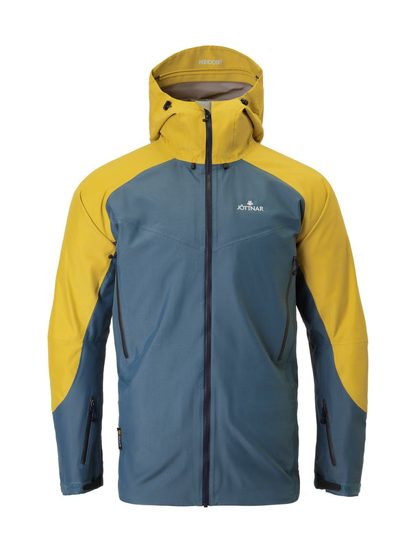 Oat/ Orion Blue Hardshell Ski Jacket