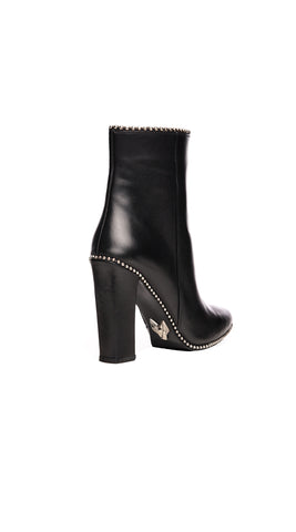 Luxy Leather Ankle Bootie - Black