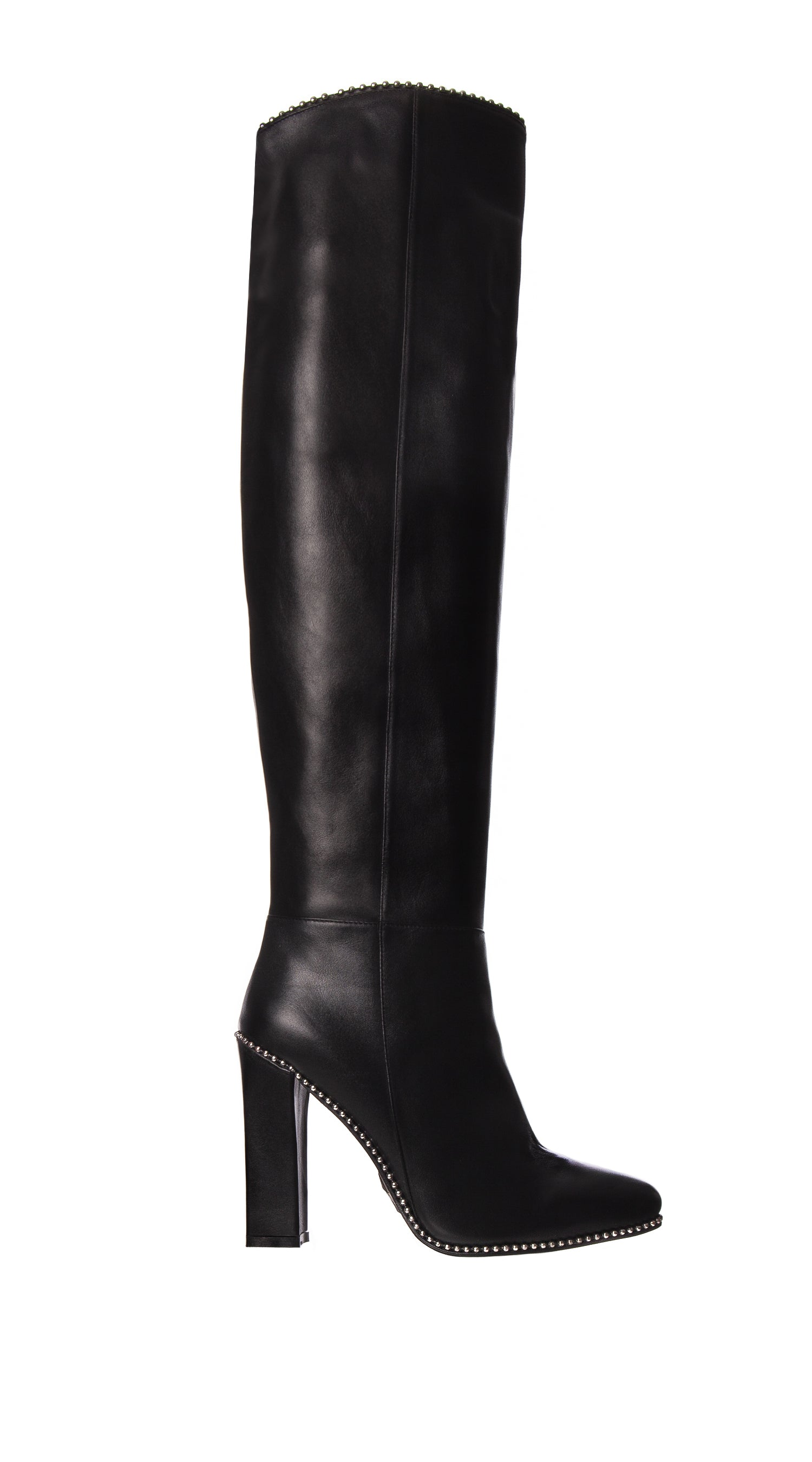 Luxy Leather Knee High Boots- Black