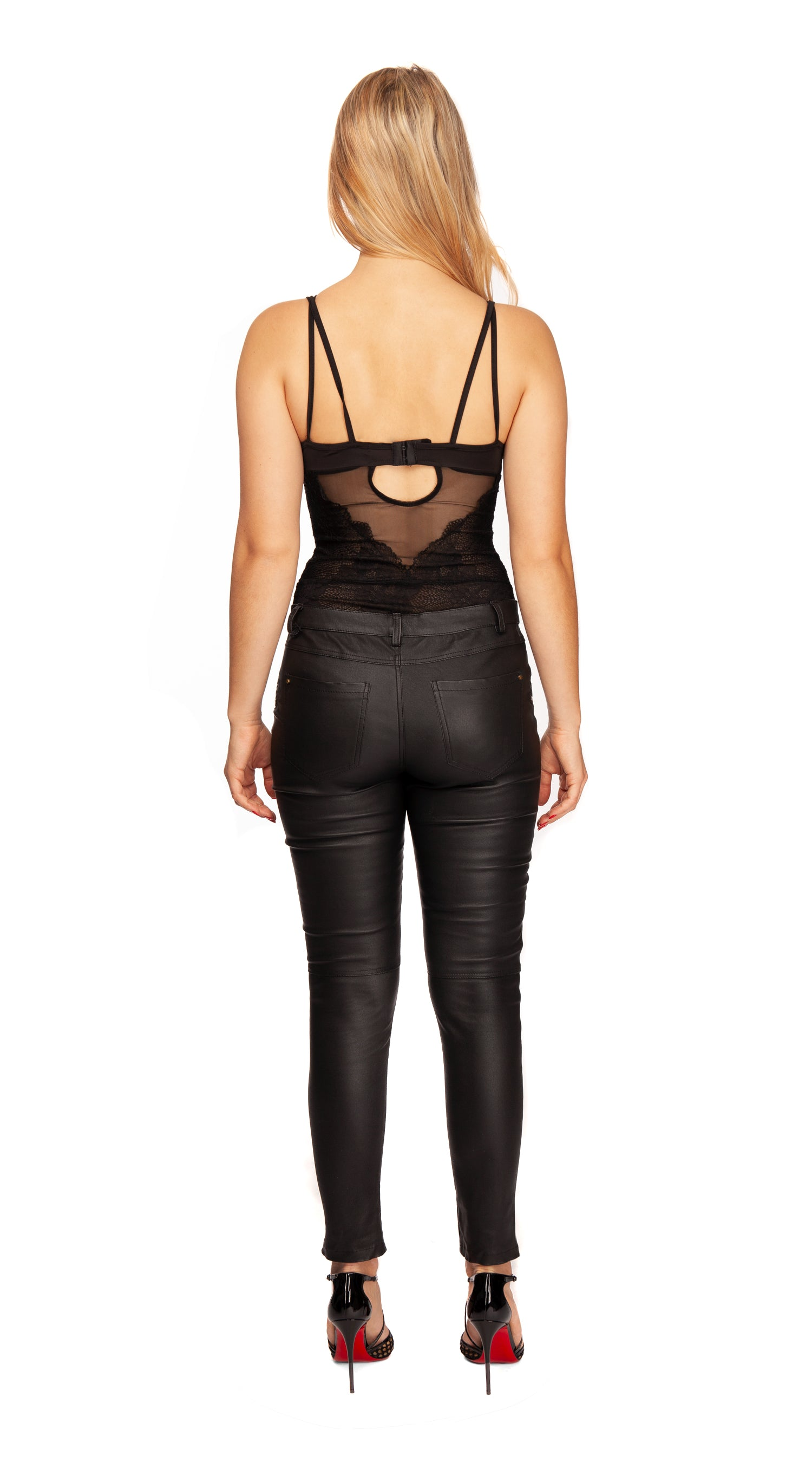 Luxy High Waisted Leather Pants