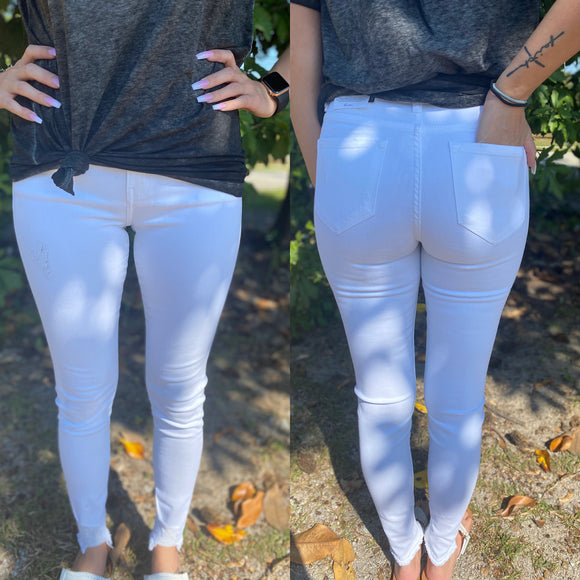 The Zoey White Skinny Jeans