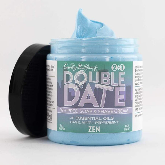 Double Date Whipped Soap & Shave Cream — Zen