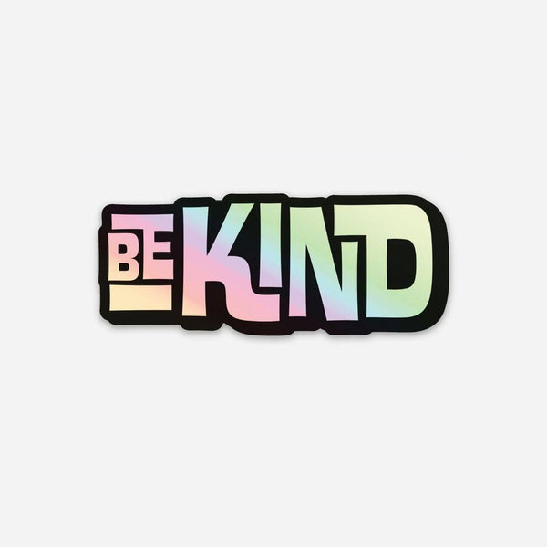 BE KIND INTERLOCK - Holographic - Sticker