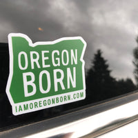 Oregon Born Stickers - Oregon Born