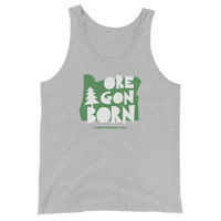 "Oregon Born ""Handcrafted"" in Green - Unisex  Tank Top - Oregon Born"