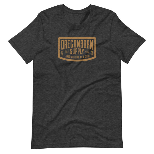 Oregon Born Supply - GOLD STANDARD - Short-Sleeve Unisex T-Shirt