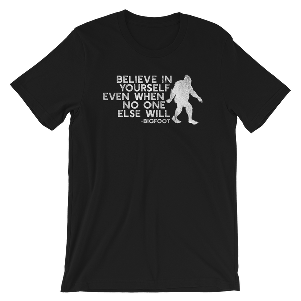 """Believe in Yourself"" (White) Short-Sleeve Unisex Tee - Oregon Born"