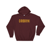 "Oregon Born ""ORBRN"" in Yellow - Hooded Sweatshirt - Oregon Born"