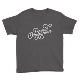 """Proud Oregonian"" - Youth Short Sleeve Tee - Oregon Born"