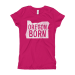 'Oregon Born' Logo - Girl's T-Shirt - Oregon Born