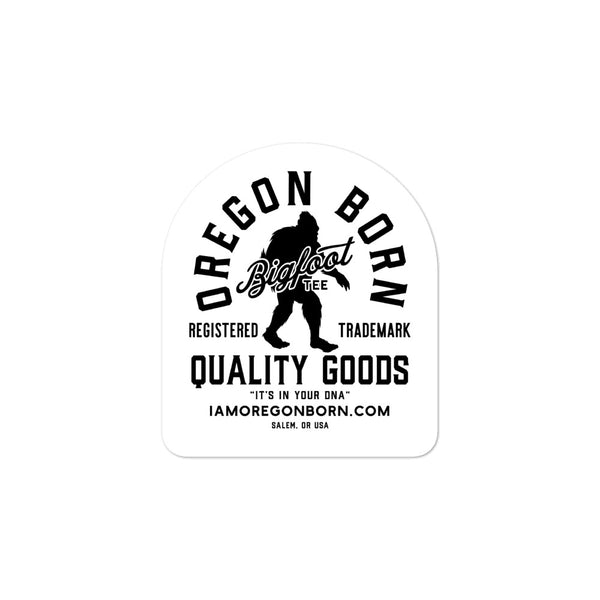 BIGFOOT TEE - Bubble-Free Stickers - Oregon Born