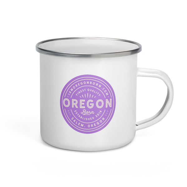 FINEST QUALITY (LAVENDER) - Enamel Mug - Oregon Born
