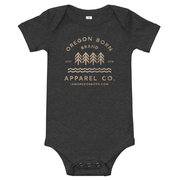 Oregon Born Brand Apparel Co. - Onesie - Oregon Born