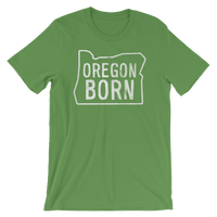 Our Original Oregon Born Logo in Outline - Unisex Tee - Oregon Born