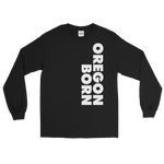 SIMPLY OREGON BORN - SIDE - Men's Long Sleeve Shirt