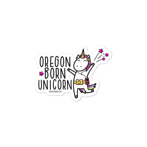 OREGON BORN UNICORN - Bubble-Free Stickers - Oregon Born