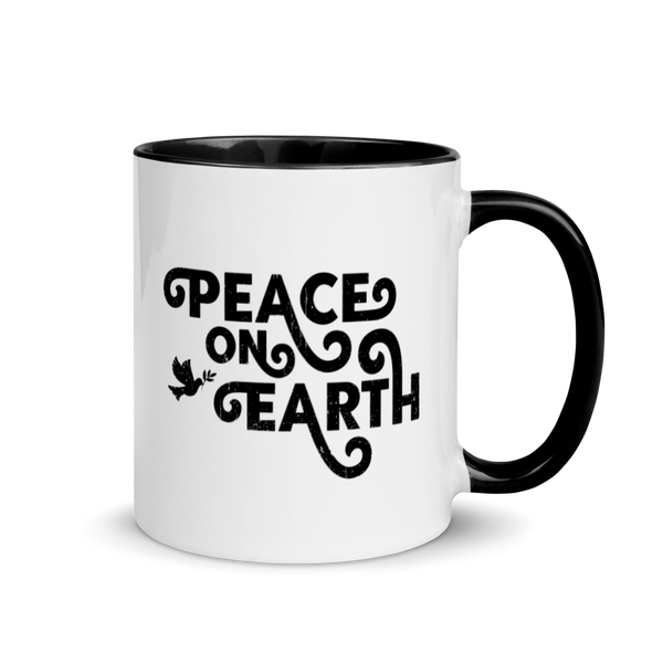 PEACE ON EARTH - Mug with Color Inside