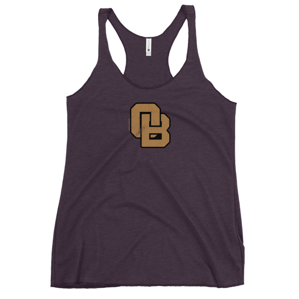 Oregon Born Monogram - GOLD STANDARD - Women's Racerback Tank