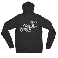 """Proud Oregonian"" - Lightweight Zip Hoodie - Unisex - Oregon Born"