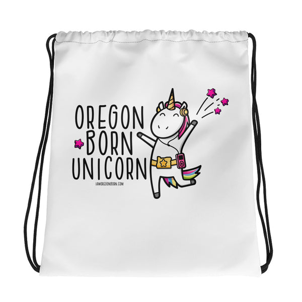 """Oregon Born Unicorn"" - Drawstring bag - Oregon Born"