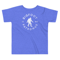 """Bigfoot Is My Patronus"" - Toddler Short Sleeve Tee - Oregon Born"
