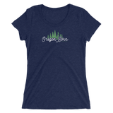 "Oregon Born ""Trees"" - Ladies' Short Sleeve Tee - Oregon Born"