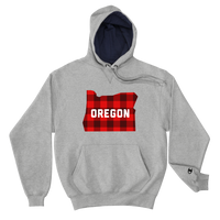 "Oregon ""Buffalo Plaid"" - Champion Hoodie - Oregon Born"