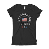 "Oregon USA - ""Old Glory"" - Girl's Tee"