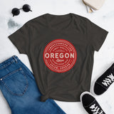 FINEST QUALITY (RED) - Women's Short Sleeve T-Shirt - Oregon Born