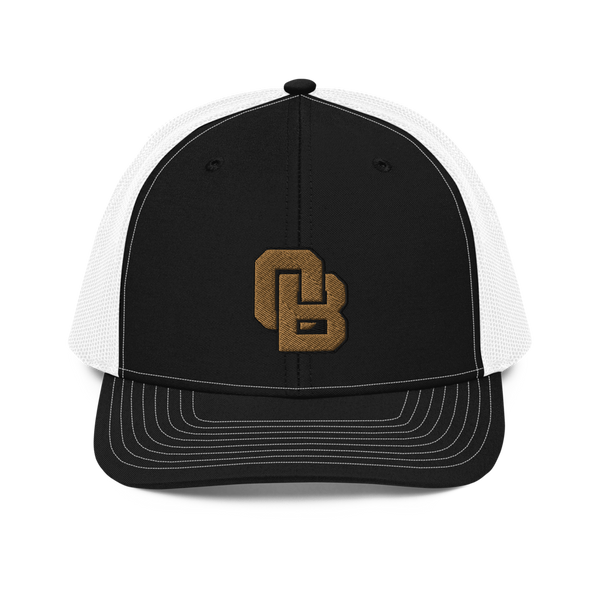 Oregon Born Monogram - GOLD STANDARD - Trucker Cap
