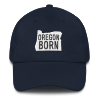 "Our Original 'Oregon Born"" Logo -  Dad Hat - Oregon Born"