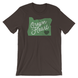 Oregon at Heart (Distressed) - Unisex Tee - Oregon Born