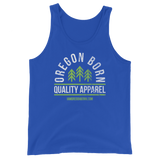 "Oregon Born ""Quality Apparel 2"" in Green & White - Unisex  Tank Top - Oregon Born"
