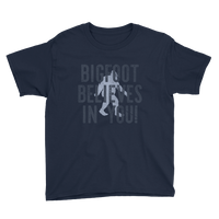 """Bigfoot Believes In You!"" -  Youth Short Sleeve T-Shirt - Oregon Born"