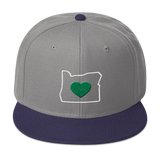 "Oregon ""Heart"" - Snapback Hat - Oregon Born"