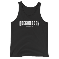 "Oregon Born - ""Decayed"" -  Unisex Jersey Tank with Tear Away Label - Oregon Born"
