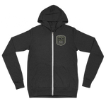 "Oregon Born - ""Get Out and Explore 3"" - Lightweight Zip Hoodie - Unisex"