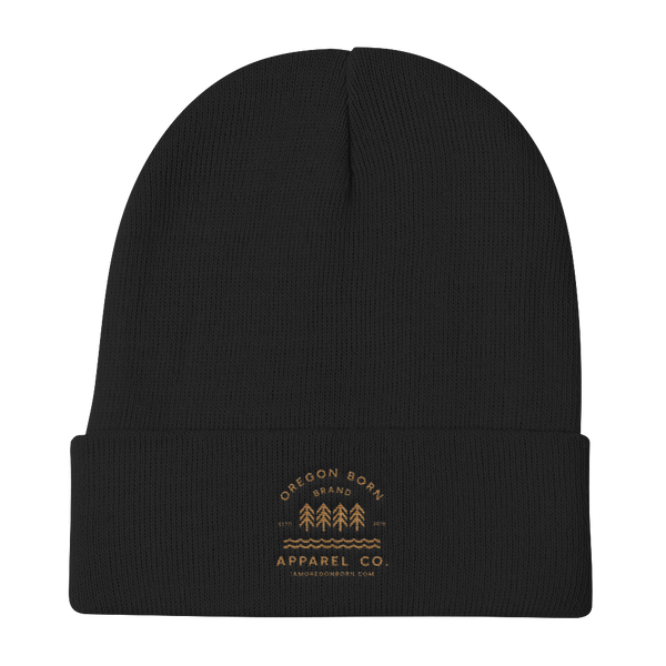 Oregon Born Brand Apparel Co. - Knit Beanie - Oregon Born