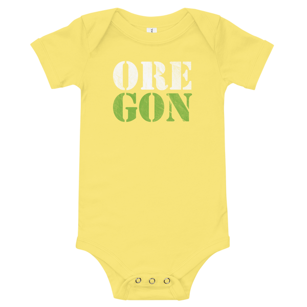 "Oregon Born - ""ORE-GON"" - Onesie - Oregon Born"