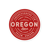FINEST QUALITY (RED) - Bubble-Free Stickers - Oregon Born